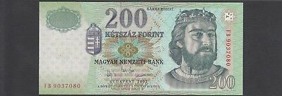 Hungary 200 Forint, 2003 P.187 UNC Uncirculated