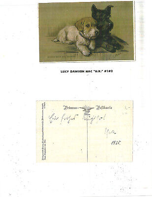 "Early 1900's Scotty Dogs Postcard  ""Nothing Can Separate Us.""  Lucy Dawson Mac."