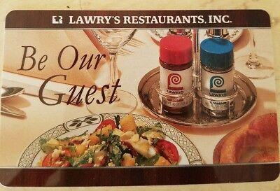 Lawry's Prime Rib Restaurant Gift Cards 2 x $50.00 Includes tip & tax WOW