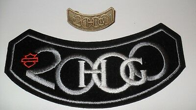 HOG 2000 Harley Davidson Owners Group Patch + Pin für Biker Kutte Weste Jacke