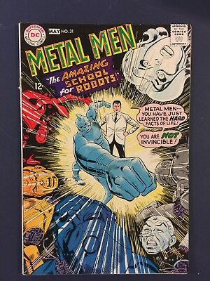 Metal Men #31 (Apr-May 1968, Silver Age DC Comics) Gil Kane cover and interior