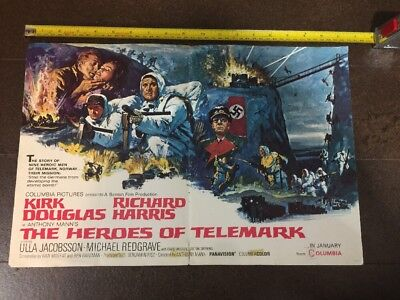 HEROES OF TELEMARK - Movie Poster from Motion Picture Exhibitor 1965 - RARE