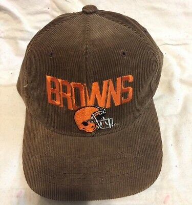 833fbe01e545dd ... italy vintage cleveland browns nfl corduroy new era official hat cap  football f2374 48742 ...