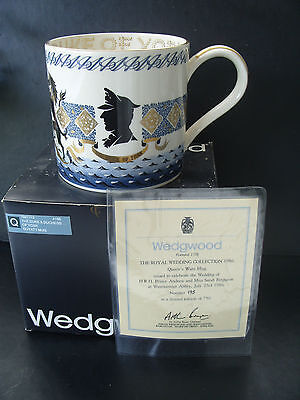1986 Wedgwood mug Wedding-Duke & Duchess of York -ltd ed-no 634-designed Guyatt