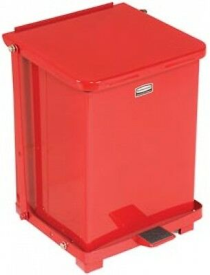 Rubbermaid ST7ERB Defenders Fire Safe Step On Metal Trash Cans, 7 Gallon, Red