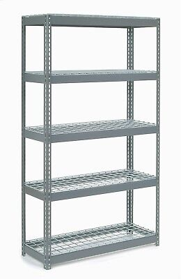 Extra Heavy Duty Shelving 48'W X 18'D X 72'H With 5 Shelves, Wire Deck