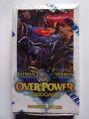 DC OverPower Batman Superman Factory Sealed Box - Booster x 36 Packs