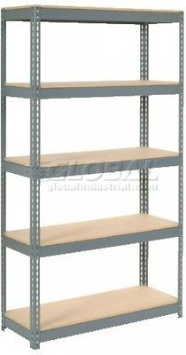 Extra Heavy Duty Shelving 48'W X 24'D X 72'H With 5 Shelves, Wood Deck