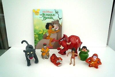 Disney Jungle Book Plastic Figures and Book Superb!