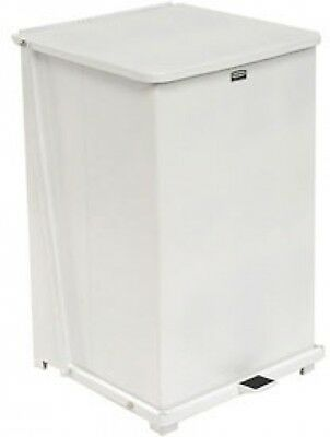 Rubbermaid ST40ERB Defenders Fire Safe Step On Metal Trash Cans, 40 Gallon,