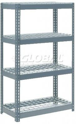 Extra Heavy Duty Shelving 36'W X 24'D X 72'H With 4 Shelves, Wire Deck