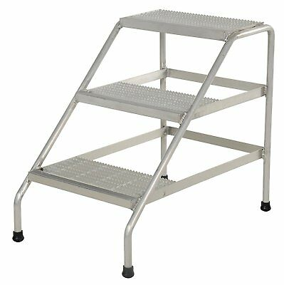 Vestil SSA-3 Aluminum 3 Three Step Stand - Welded