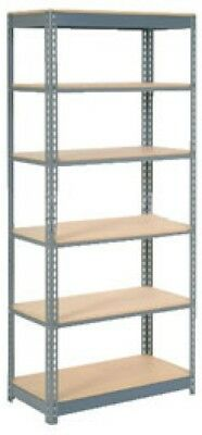 Heavy Duty Shelving 48'W X 18'D X 84'H With 6 Shelves, Wood Deck