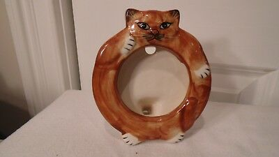 Cat Picture Frame,  Glass.  By Mann  Made In Japan