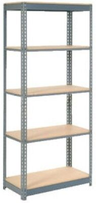 Heavy Duty Shelving 48'W X 18'D X 84'H With 5 Shelves, Wood Deck