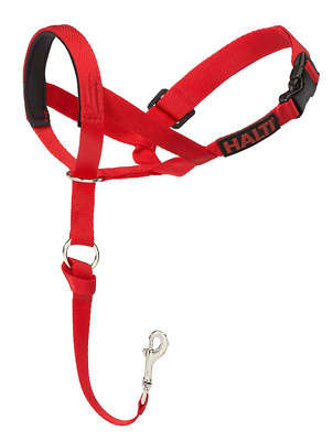 HALTI Head Collar Size 3 Large Gentle Stop Pulling Dog Lead Padded Noseband Red