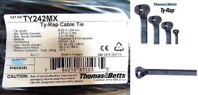Thomas & Betts TY242MX Ty-Rap Cable Tie Self-Locking Ties 204mm Black Polymide