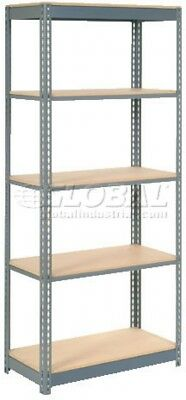 Heavy Duty Shelving 36'W X 18'D X 72'H With 5 Shelves, Wood Deck