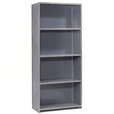 Steel Shelving 18 Ga 36'Wx24'Dx73'H Closed Clip Style 5 Shelf Starter