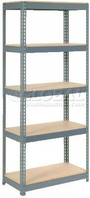 Extra Heavy Duty Shelving 36'W X 24'D X 72'H With 5 Shelves, Wood Deck