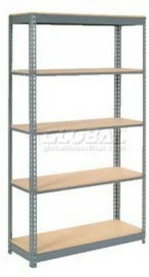 Heavy Duty Shelving 48'W X 24'D X 96'H With 5 Shelves, Wood Deck