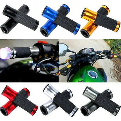 "7/8"" Aluminum Handlebar Rubber Gel Hand Grips Bar End For Motorcycle Sports Bike"