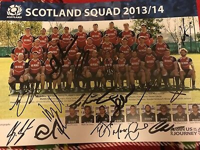 Hand Signed Scotland Rugby Team Signed Photo - Autograph