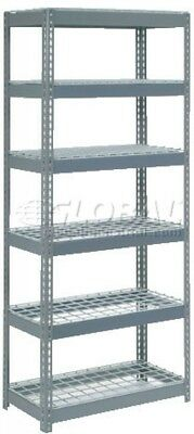 Extra Heavy Duty Shelving 36'W X 18'D X 84'H With 6 Shelves, Wire Deck