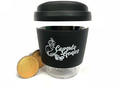 Nespresso compatible  capsules+Reusable 12oz Glass Coffee Cup