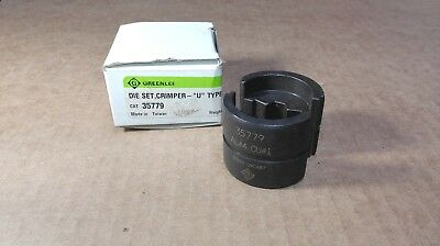 "NEW Greenlee 35779 Crimping Die Set, Crimper ""U"" Type (AL4 CU1)"