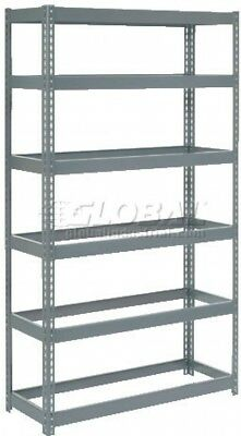Extra Heavy Duty Shelving 48'W X 24'D X 96'H With 6 Shelves, No Deck