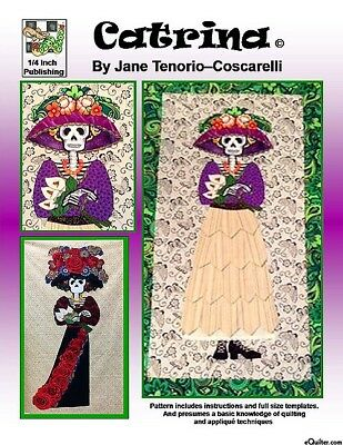 Catrina Applique Quilt Pattern   The Day Of The Dead   Free Post