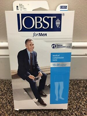 Jobst for Men 115513 15-20 mmHg Thigh High Compression Socks Khaki Medium NEW