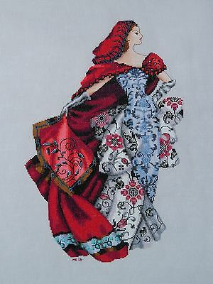 Red - Cross Stitch Chart - Free Postage