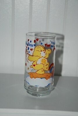 Vintage 1 Glasses Tumbler Care Bears Solours Funshine Bear American Greetings