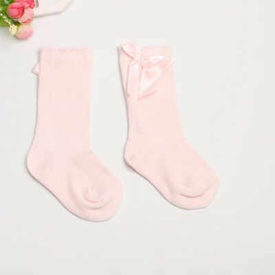Toddler Baby Girls Soft Cotton Long Big Bow Lace Warm Stockings