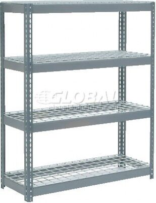 Extra Heavy Duty Shelving 48'W X 18'D X 72'H With 4 Shelves, Wire Deck
