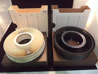Carousel Transvue 80 Slide Tray Used with Box Lot of 2