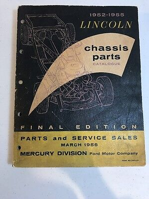 1952-1955 Lincoln Chassis Parts Catalogue Final Edition