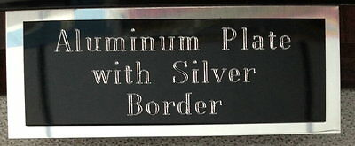 """3x1"""" Aluminum Plate + Border Engraved Engraving Plaque Name ID Tag Flag Case"""