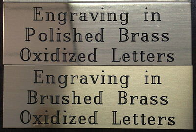 """3x1"""" Brass Plate Oxidized Engraved Engraving Plaque Name Tag Trophy Award"""