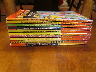 Lot of 10  MAGIC SCHOOL BUS Series Matched Set of Chapter Books Ages 7-10
