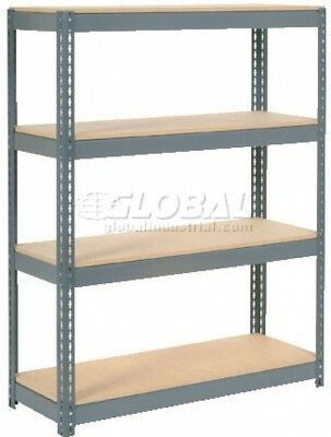 Extra Heavy Duty Shelving 48'W X 24'D X 72'H With 4 Shelves, Wood Deck
