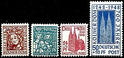 GERMANY, BRITISH AMERICAN ZONE, THE 700th. ANNIV. OF COLOGNE CATHEDRAL, MNH