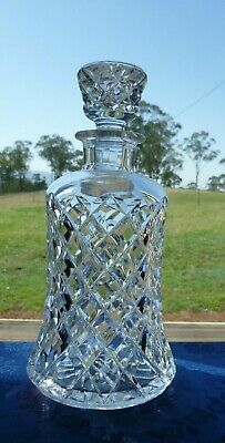 Good Heavy Made Quality Vintage Bohemian Crystal Elegant Heavy Decanter