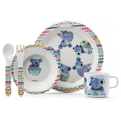 NEW Ashdene Cooee Koala Kids Mealtime Set 5pce