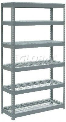 Extra Heavy Duty Shelving 48'W X 24'D X 96'H With 6 Shelves, Wire Deck