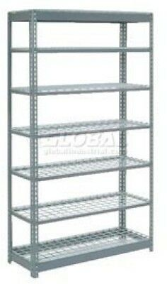 Heavy Duty Shelving 48'W X 24'D X 96'H With 7 Shelves, Wire Deck
