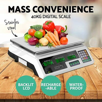 Kitchen Scale Digital Commercial Shop Electronic Weight Scales Food OM