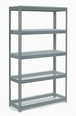 Extra Heavy Duty Shelving 48'W X 24'D X 84'H With 5 Shelves, Wire Deck